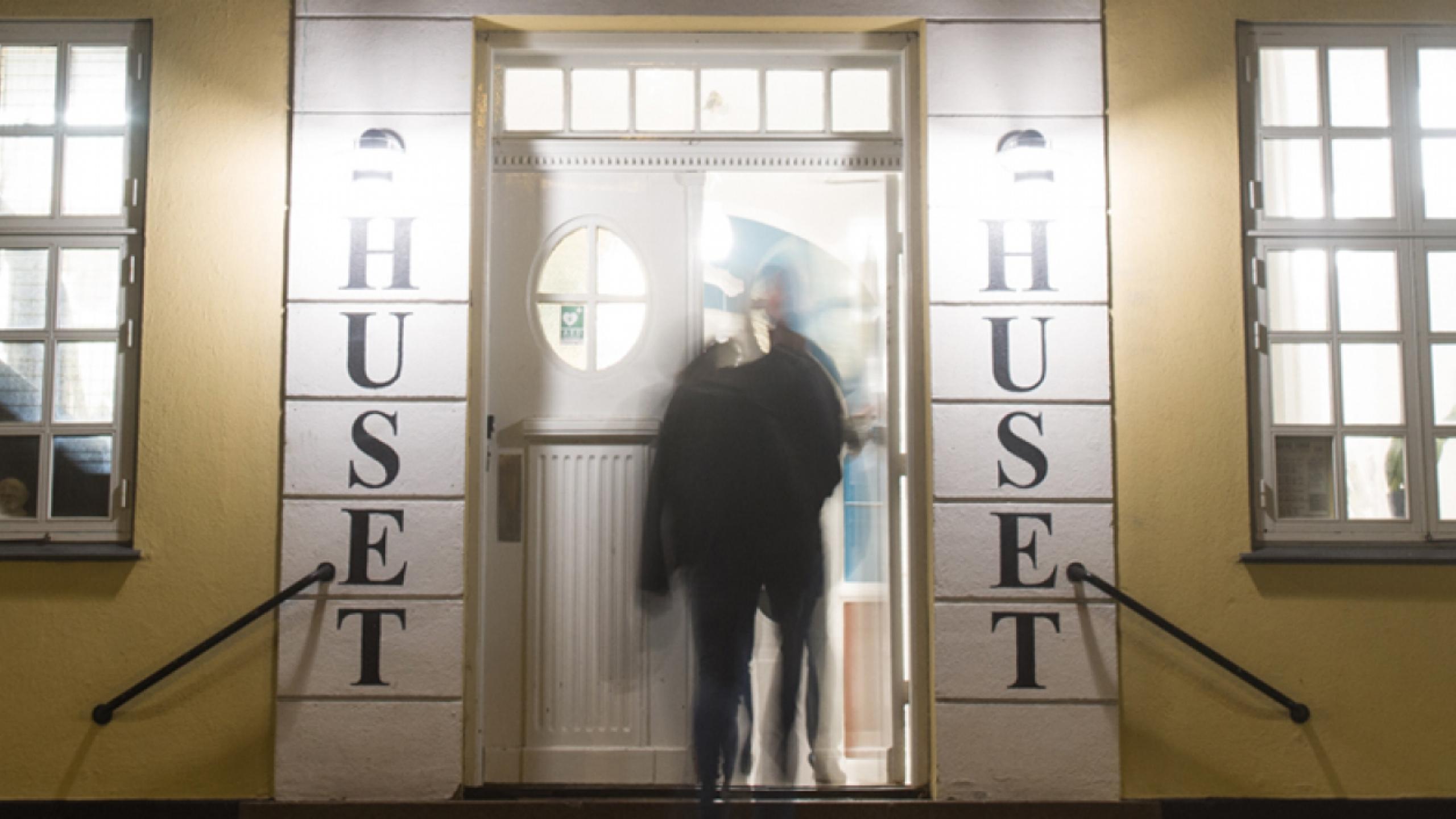 Huset Hasserisgade fordør